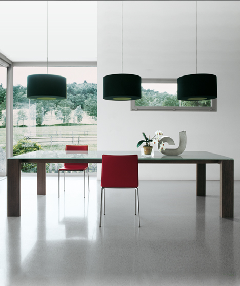 Glass dining table Toronto sovet italia