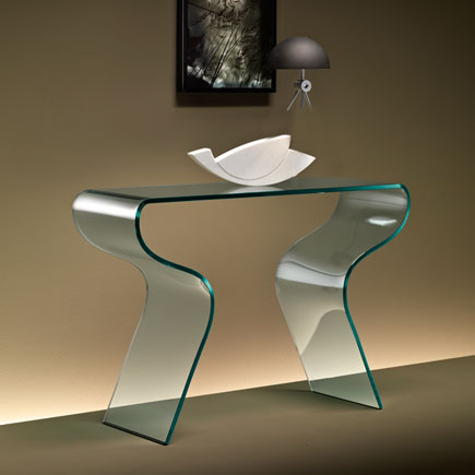 Charlotte glass console table