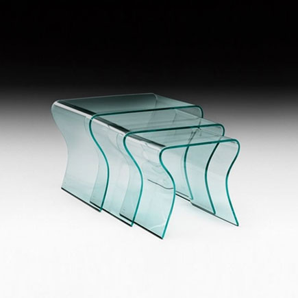 Charlotte Nest of glass tables