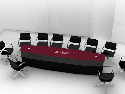 large glass boardroom table