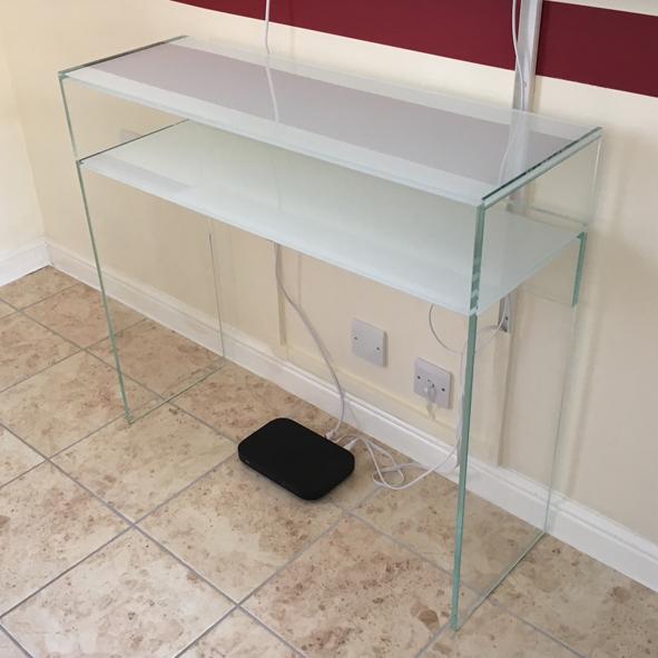 bespoke glass furniture console