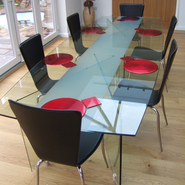 bespoke glass furniture dining table