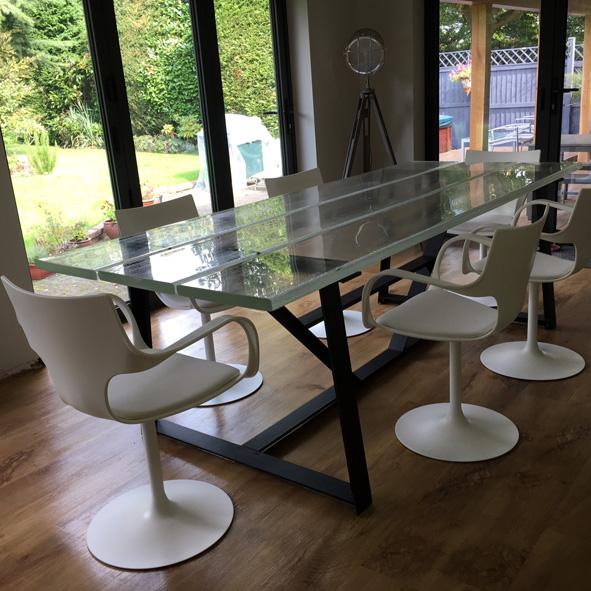 flute chairs bespoke glass furniture