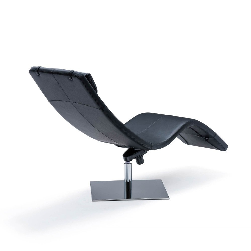 - Casanova Leather Chaise Lounge - By Glassdomain.co.uk