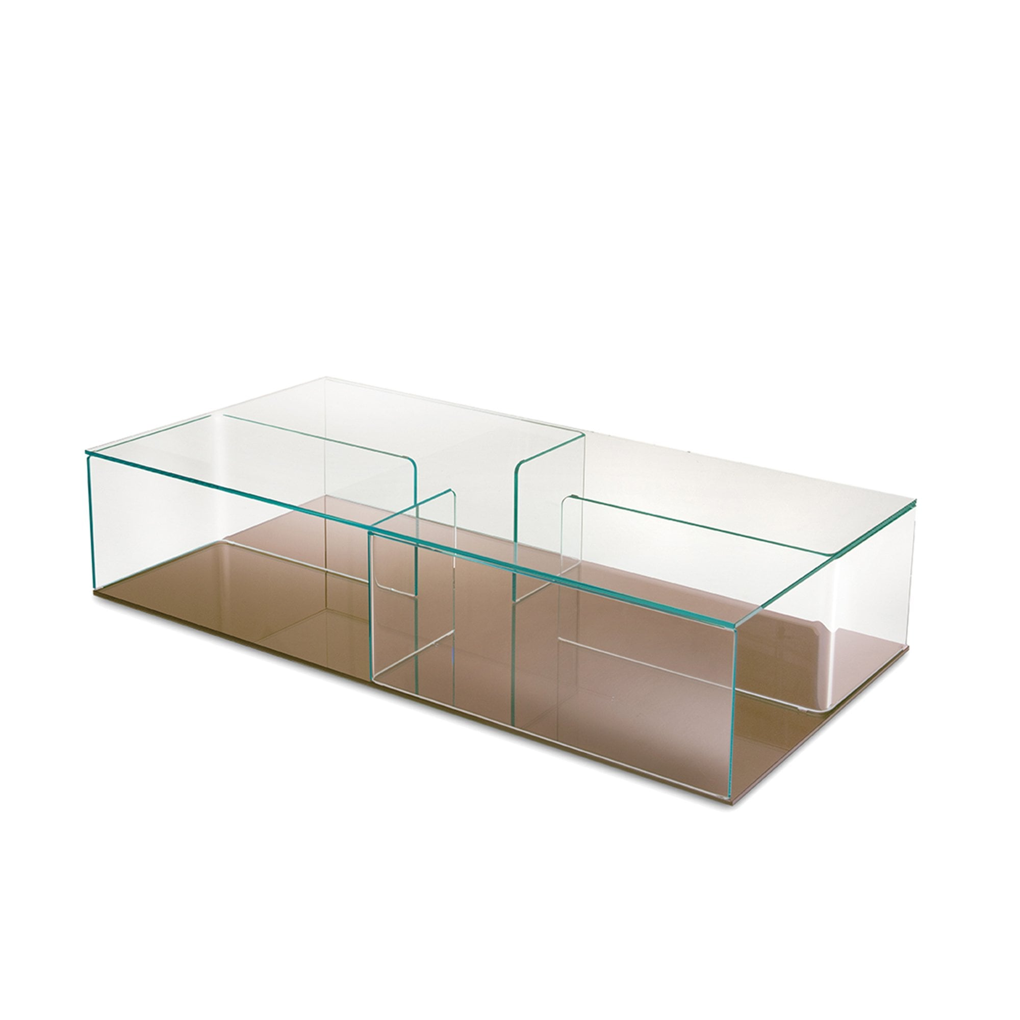 Quadra Coffee Table With Storage Unit By Glassdomain Co Uk