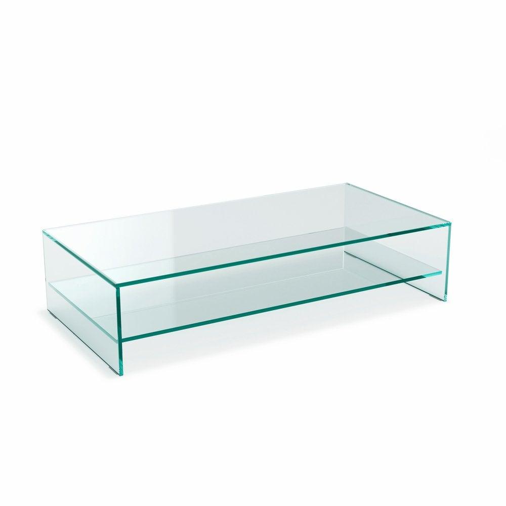 Glass Coffee Table With Shelf 1