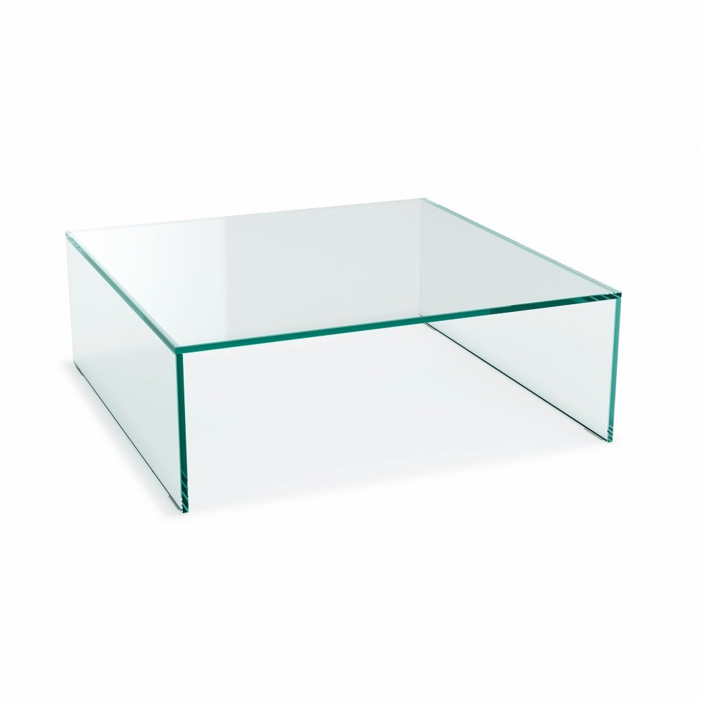 Square Crystal Glass Coffee Table Glassdomain [ 1000 x 1000 Pixel ]