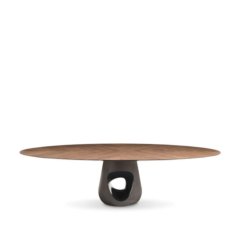 Barbara Oval Dining Table - Walnut  sc 1 st  Glassdomain & Barbara Oval Dining Table - Walnut - By glassdomain.co.uk