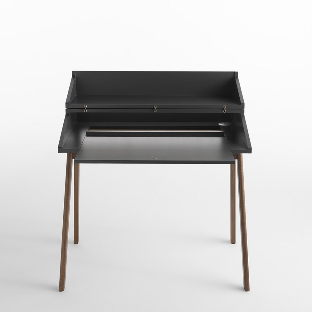 bureau black writing desk by