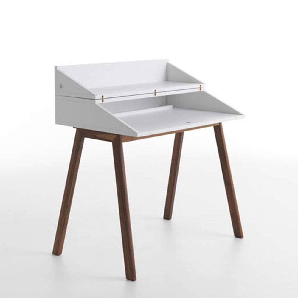Bureau White Writing Desk By Glassdomain Co Uk