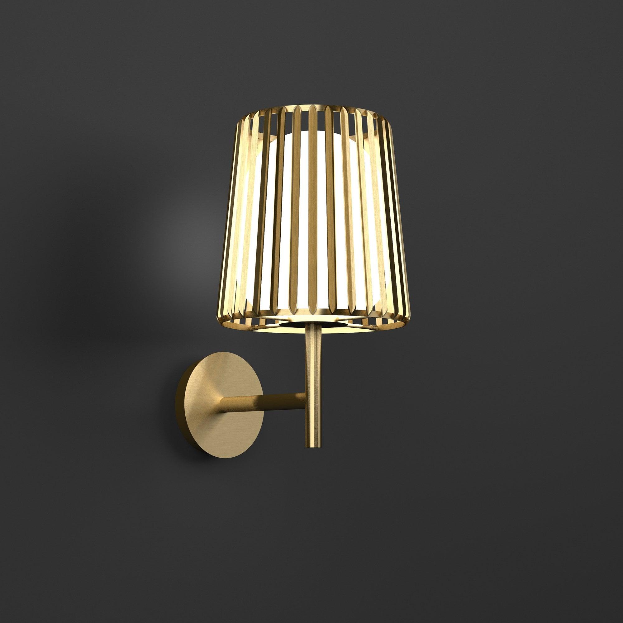Julia Brass Wall Lamp By Glassdomain Co Uk