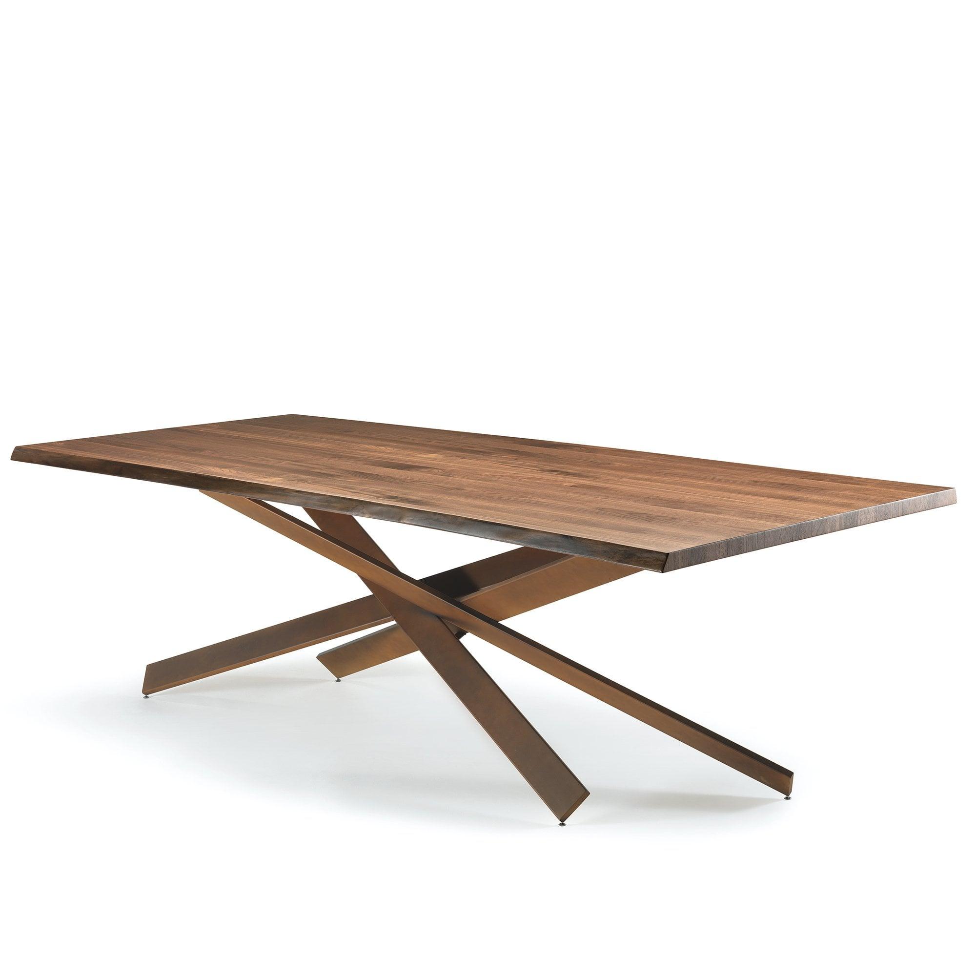 Reflex Mikado Dining Table - Walnut and Brass