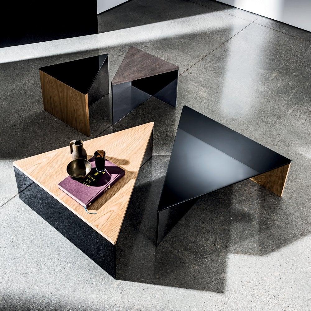 - Regolo Triangular Coffee Table - By Glassdomain.co.uk