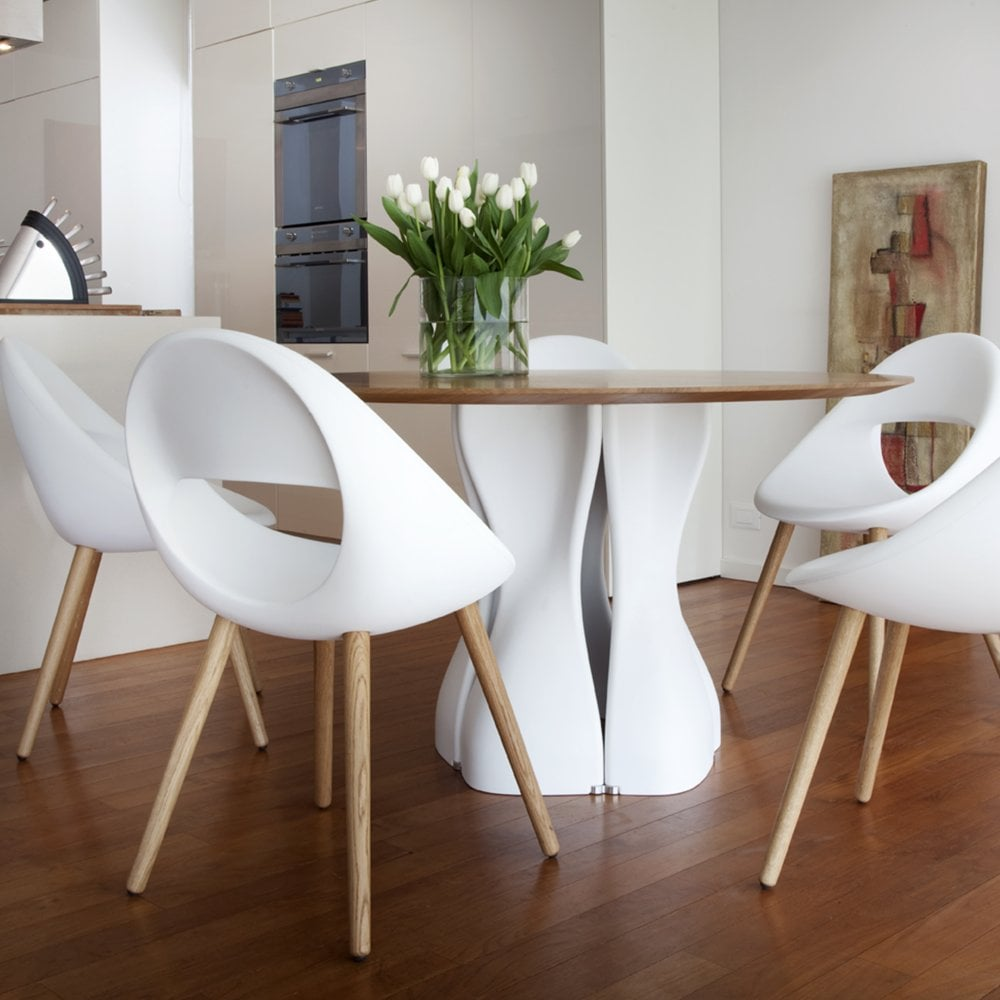 Lucky Dining Chair White Oak Legs