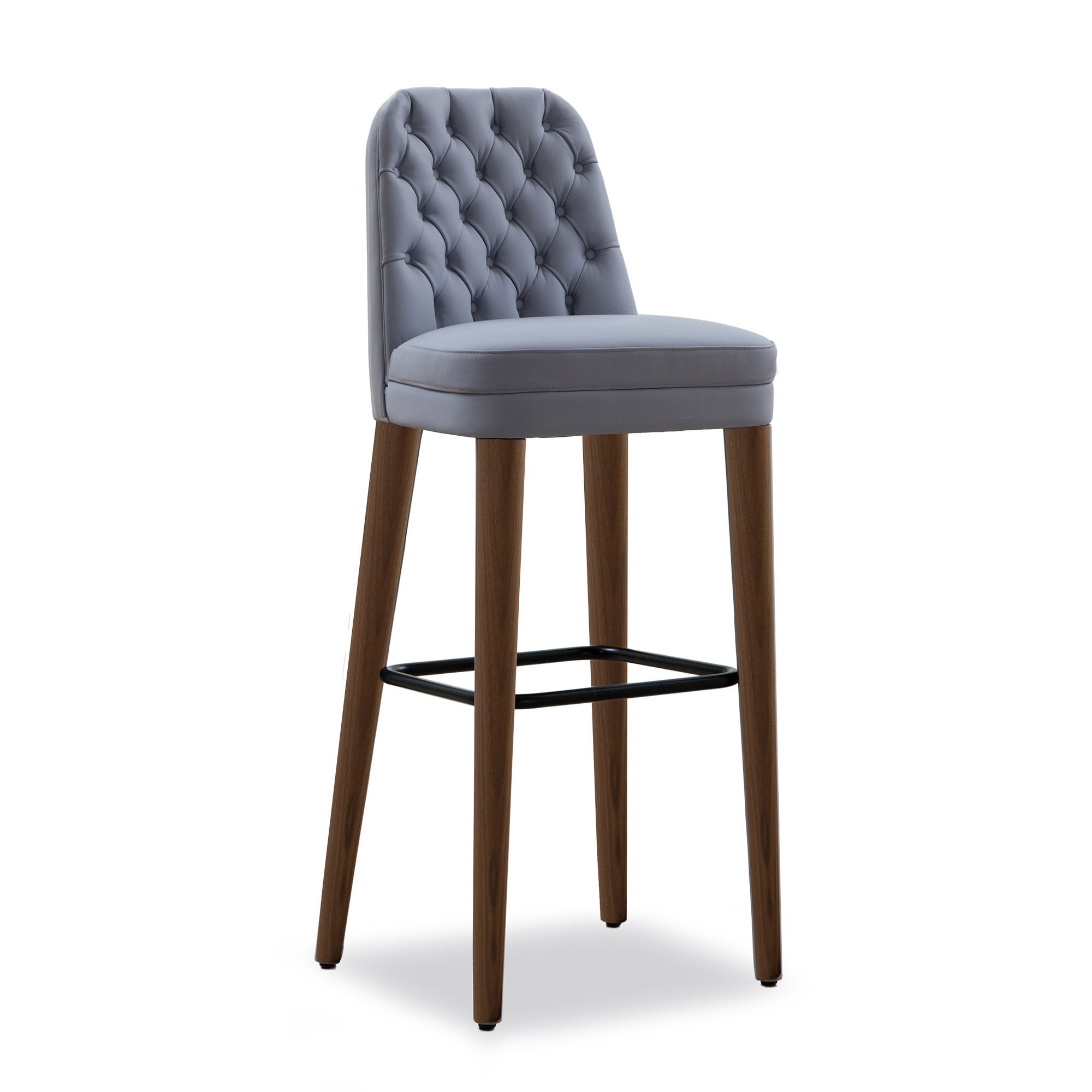 Tonon Quilted Signatures Bar Stool - Wooden Legs