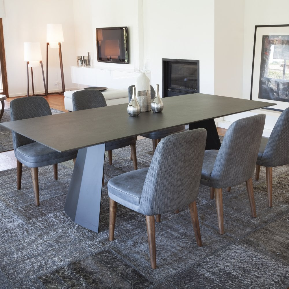 Steel Dining Table Ceramic Top By Glassdomain Co Uk